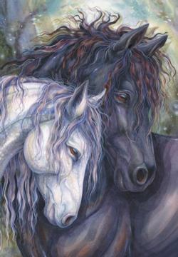 Kindred Spirits Horses Jigsaw Puzzle