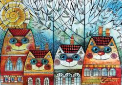 City Cat Cities Jigsaw Puzzle
