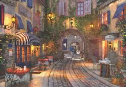 French Walkway Street Scene Jigsaw Puzzle