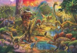 Landscape Of Dinosaurs Dinosaurs Jigsaw Puzzle