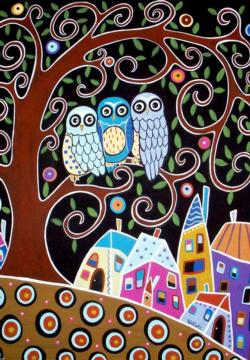 Three Owls Birds Jigsaw Puzzle