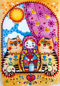 Matryoshka Europe Jigsaw Puzzle