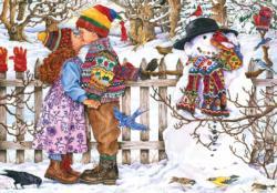 First Kiss Snowman Jigsaw Puzzle