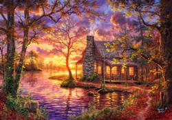 Hiding Place Sunrise / Sunset Jigsaw Puzzle