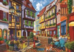 Cobblestone Alley Europe Jigsaw Puzzle