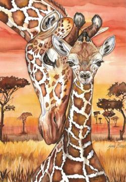 Giraffe Animals Jigsaw Puzzle