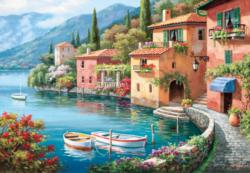 Villagio Dal Lago Seascape / Coastal Living Jigsaw Puzzle