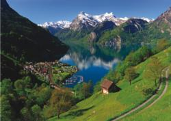 Lake Lucerne Switzerland Mountains Jigsaw Puzzle