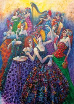 Romantic Ballroom Dance Jigsaw Puzzle