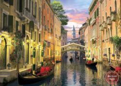 Venice at Dusk Lakes / Rivers / Streams Jigsaw Puzzle
