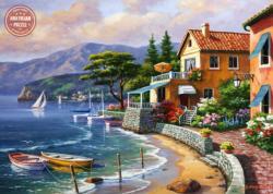 Paradise Retreat Seascape / Coastal Living Jigsaw Puzzle