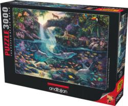 Jungle Paradise Dolphins Jigsaw Puzzle