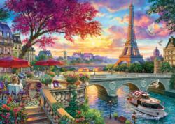 Blooming Paris Eiffel Tower Jigsaw Puzzle