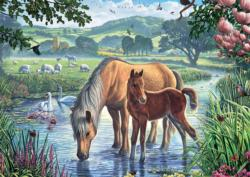 Pony and Foal Baby Animals Jigsaw Puzzle