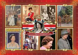 Queens Longest Reign Collage Jigsaw Puzzle