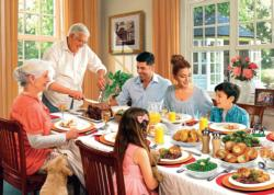 Sunday Lunch Domestic Scene Jigsaw Puzzle