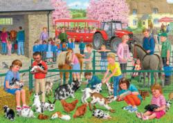 A Day at the Farm Cartoons Jigsaw Puzzle
