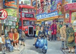 Life in the City Street Scene Jigsaw Puzzle