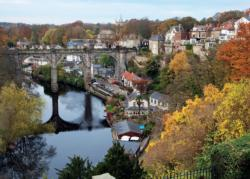 River Nidd at Knaresborough Fall Jigsaw Puzzle