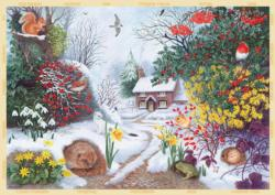 Winter Hedgerow Snow Jigsaw Puzzle