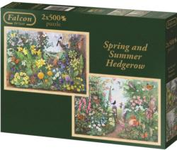 Spring & Summer Hedgerow Flowers Jigsaw Puzzle