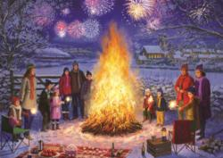 Bonfire Night Fireworks Jigsaw Puzzle