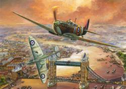 Spitfire Over London Military Jigsaw Puzzle