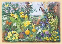 Spring Hedgerow Garden Large Piece