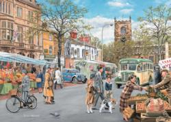 Skipton Market Small Town Jigsaw Puzzle