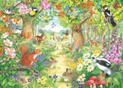 A Woodland Trail Forest Jigsaw Puzzle