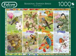 Seasonal Garden Birds Fall Jigsaw Puzzle