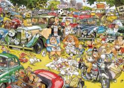 Picnic in the Park Cartoons Jigsaw Puzzle
