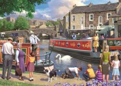Sunday on the Canal People Jigsaw Puzzle