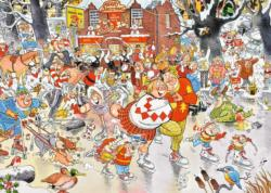Christmas on Ice Christmas Jigsaw Puzzle