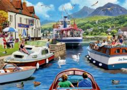 A Day on the River Lakes / Rivers / Streams Jigsaw Puzzle