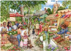 The Farmer's Market Shopping Jigsaw Puzzle