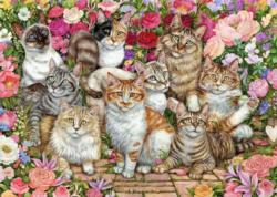 Floral Cats Flowers Jigsaw Puzzle