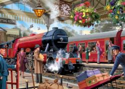 Waiting on the Platform Trains Jigsaw Puzzle