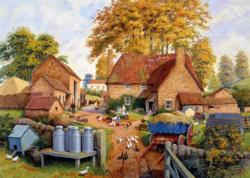 Autumn on the Farm Chickens & Roosters Jigsaw Puzzle
