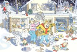 Wasgij #9 Christmas: A Bright Christmas Night! Snow Jigsaw Puzzle