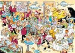 Seafood Supper Cartoons Jigsaw Puzzle