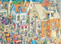 Building Site Cartoons Jigsaw Puzzle