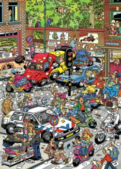 Scooter Scramble Cartoons Jigsaw Puzzle