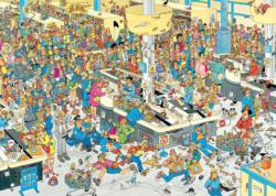 Queued Up Cartoons Jigsaw Puzzle