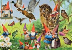 In the Forest with the Gnomes Fantasy Jigsaw Puzzle