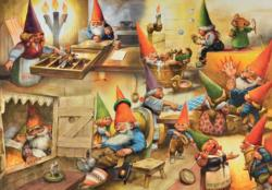 At Home with the Gnomes Fantasy Jigsaw Puzzle