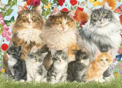 Francien's Cat Family Kittens Jigsaw Puzzle