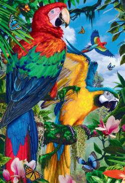 Pretty Parrots Birds Jigsaw Puzzle