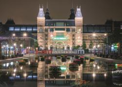 Rijksmuseum By Night Street Scene Jigsaw Puzzle