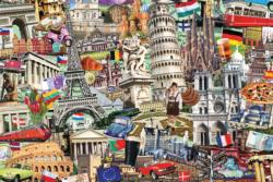 Best of… European Cities Landmarks / Monuments Jigsaw Puzzle